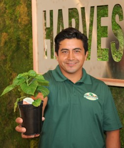 Our organic produce specialist, Sam Guitron
