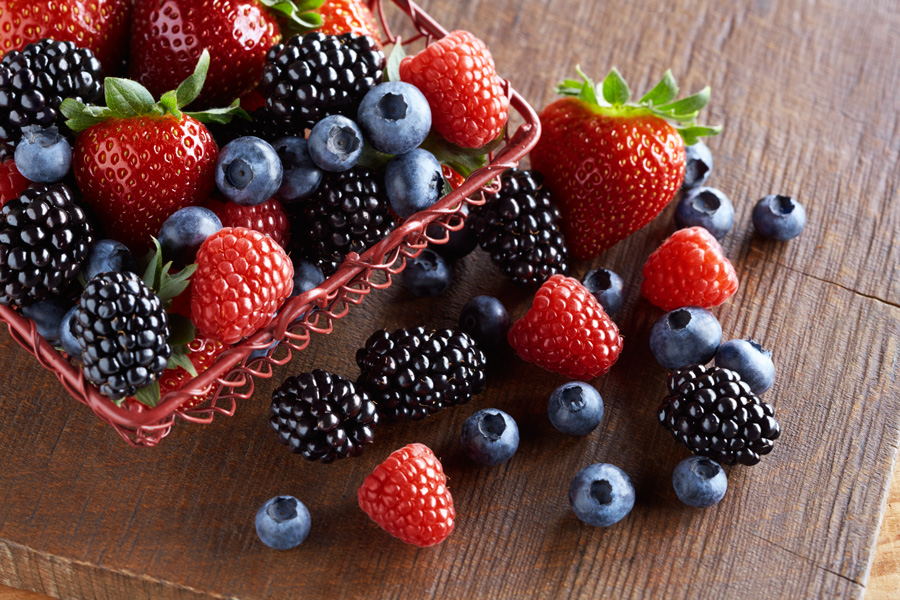Try our organic garden berries